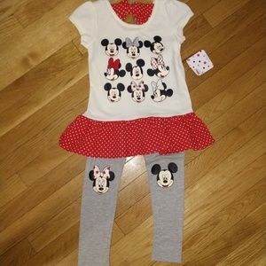 Other - NEW Minnie Mouse 2 Piece Outfit Size 6X